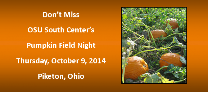 pumpkin field night at OSU South Centers is October 9