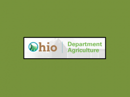 Photo of the Ohio Department of Agriculture Logo on a green background