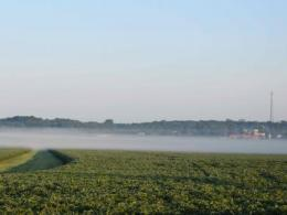 inversion over a soybean field