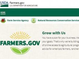 Clip of farmers.gov website